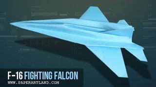 Cách gấp máy bay giấy cực dễ   MÁY BAY CHIẾN ĐẤU F-16