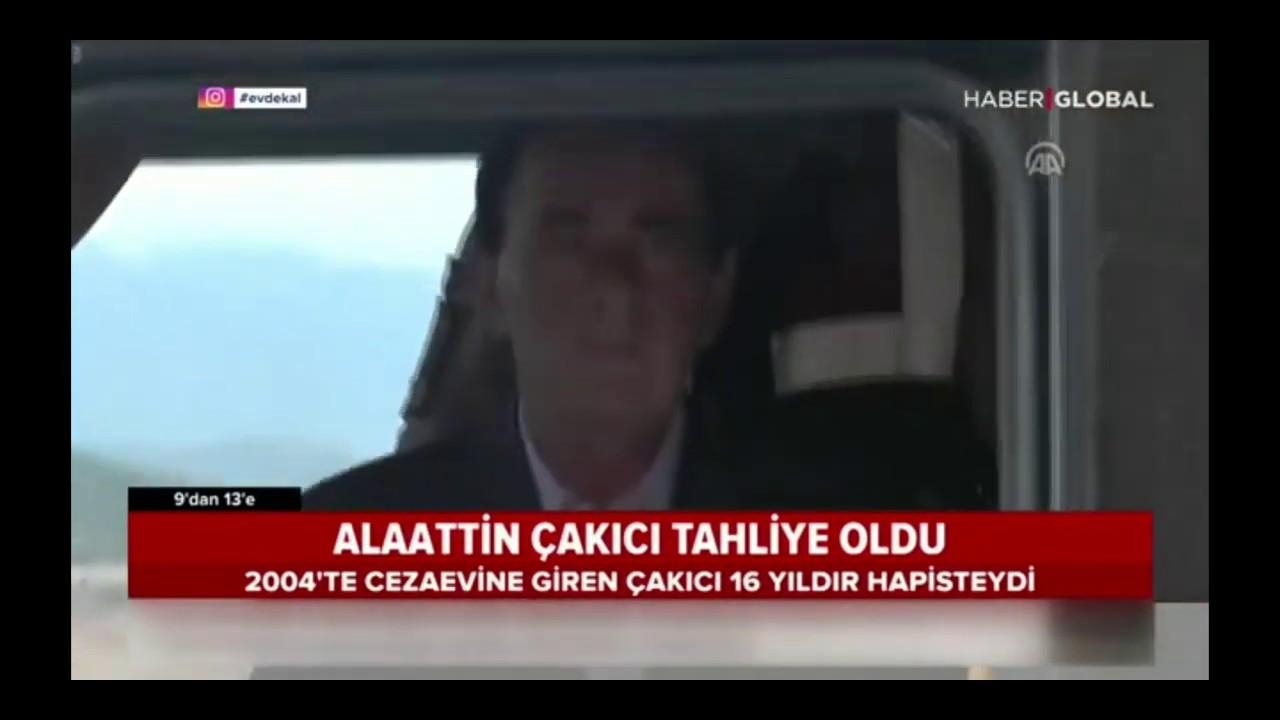 tahliye olan Alaattin Çakıcı, ilk açıklamasında Cumhurbaşkanı Erdoğan ve Bahçeli'ye teşekkür et