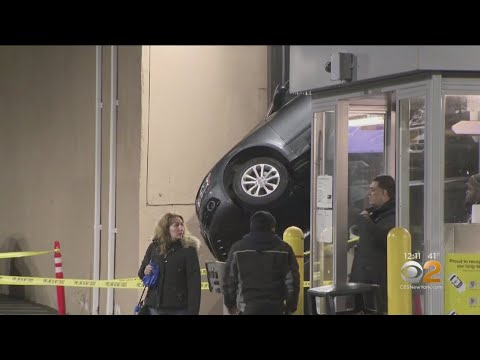 Car Left Dangling From Brooklyn Parking Lift