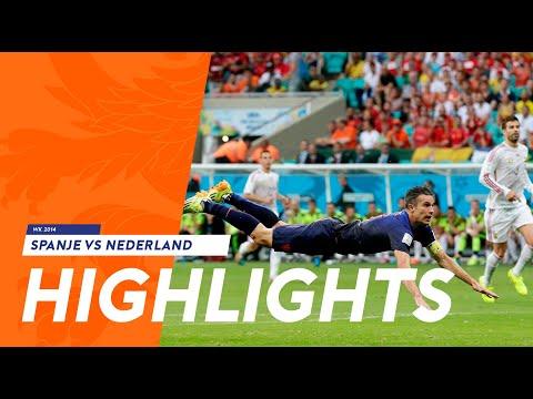 Highlights: Spanje - Nederland 1-5 (13/06/2014) WK 2014