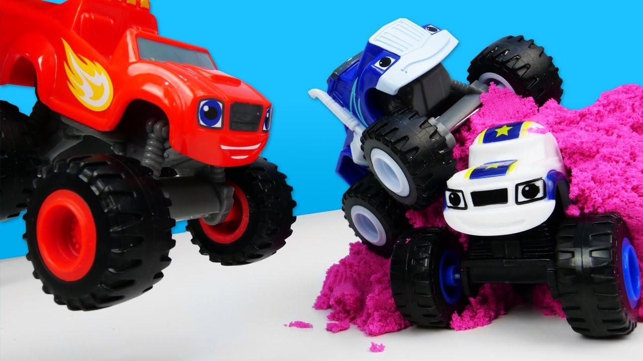 Crusher quiere la turbina nueva de Darington. Historias con coches de juguete Monster Machine