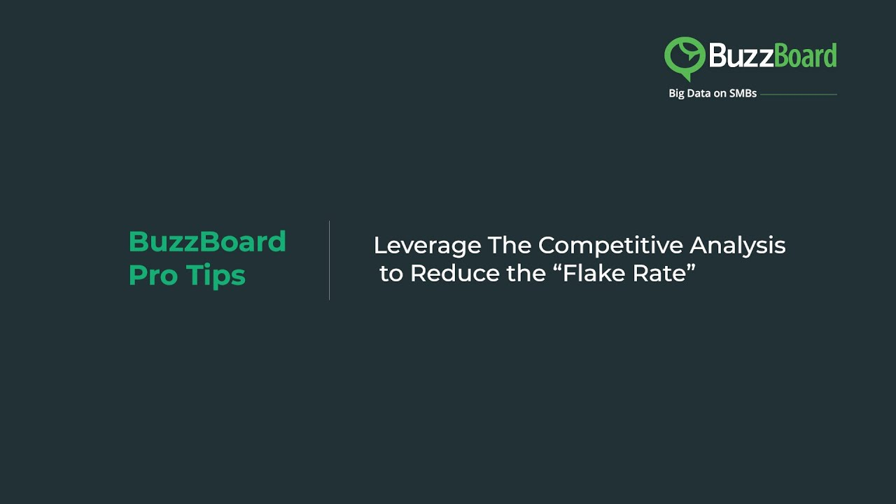 """Leverage The Competitive Analysis to Reduce the """"Flake Rate"""""""