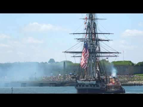 USS Constitution firing  July 4, 2013