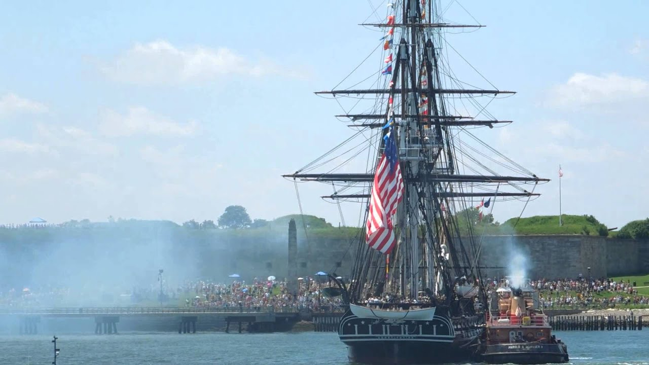 USS Constitution firing July 4, 2013 - YouTube