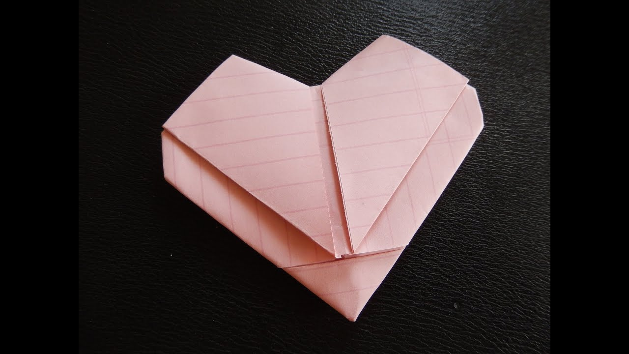 Easy How To Make Heart Out Of Regular Size Paper Youtube