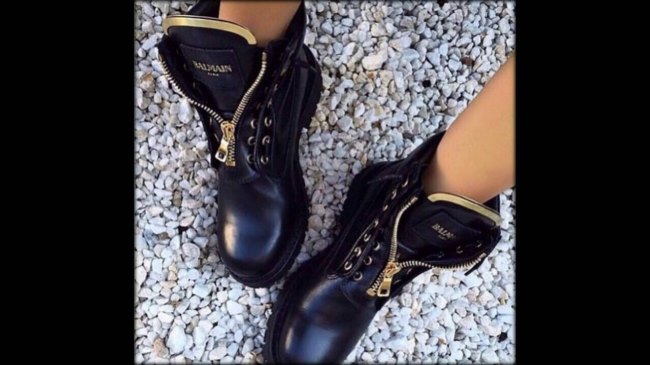 Ботинки Балмаин бежевые - YouTube