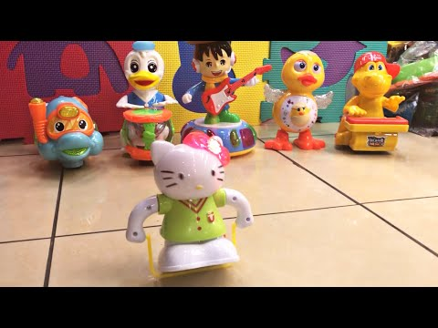 Singing Toys, Funny Dancing Musical Toys Hello Kitty Fitness Rope Vs Donald ON Drums #NameTheSong