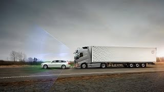 Volvo Trucks - Collision Warning with Emergency Brake even in a curve thumbnail