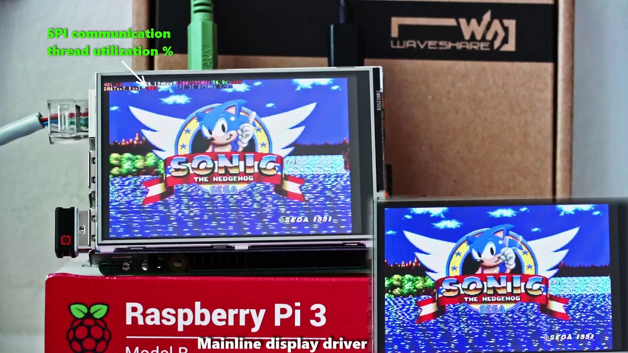 Blazing Fast Raspberry Pi Display Driver Will Melt Your Face Then