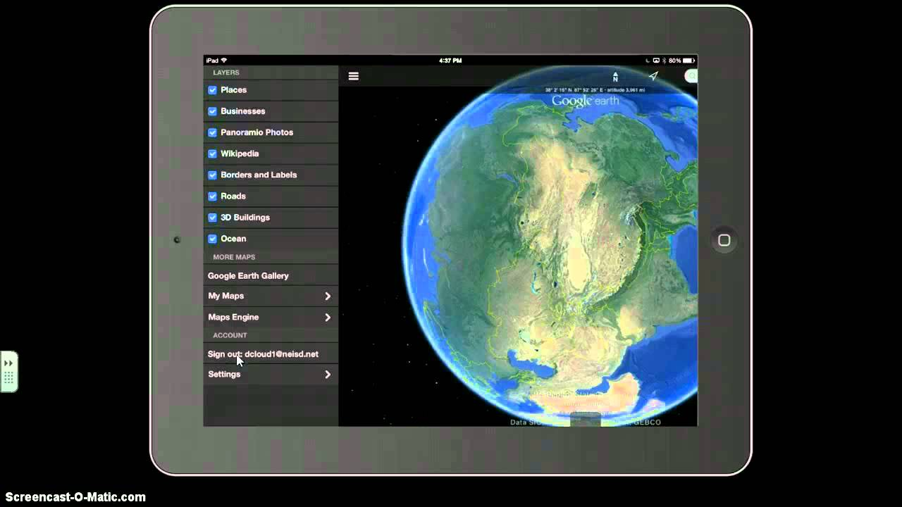 telecharger google earth pour ipad air