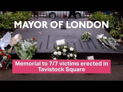 Memorial Erected To Commemorate Victims Of 7 Tavistock Square Bombing