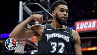 Karl-anthony towns approaches a triple-double with 34 points, 18 rebounds and seven assists in the minnesota timberwolves' 113-104 win over miami heat.✔ ...