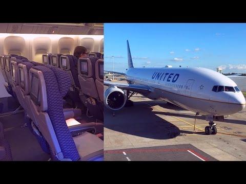Amsterdam - Houston United Boeing 777-200ER in Economy Plus
