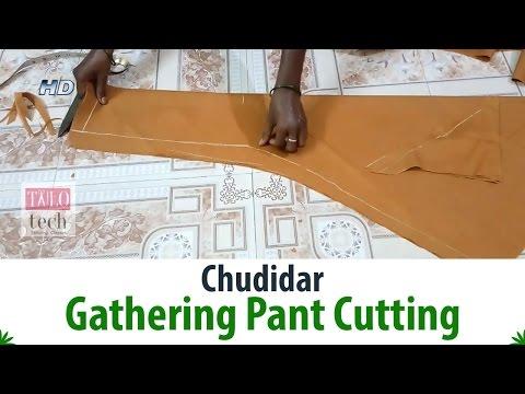 Chudidar Gathering Pant Cutting Tutorial With Measurement-Churidar Pant