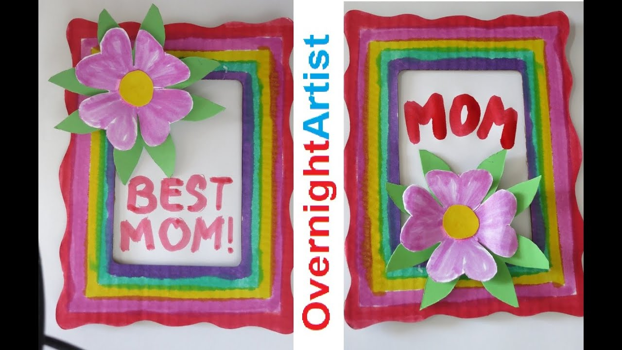Mother\'s Day Gift Ideas - Easy Flower 3D Pop Up Frame - YouTube