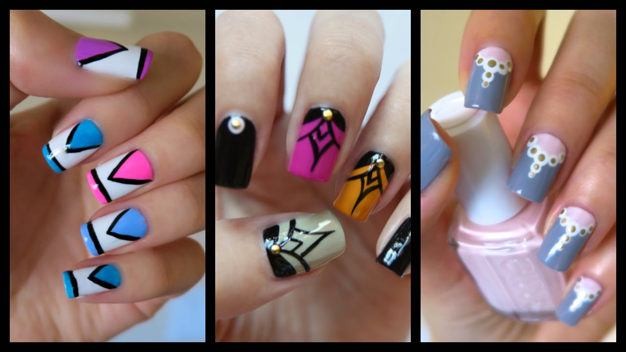 Easy nail art for beginners 17 jennyclairefox youtube prinsesfo Gallery