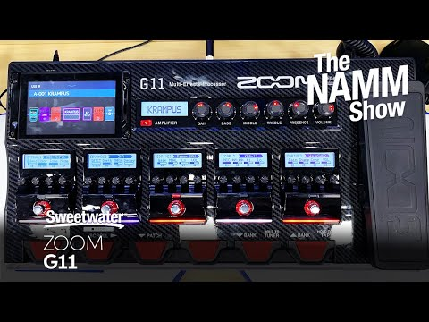 Zoom G11 Guitar Multi-effects Pedal at Winter NAMM 2020