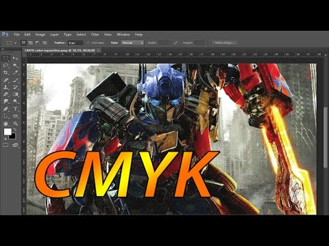 CMYK Color separation process photoshop for screen printing - easy tutorial