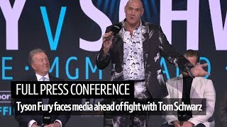 Full Press Conference | Tyson Fury faces the media ahead of his fight Tom Schwarz