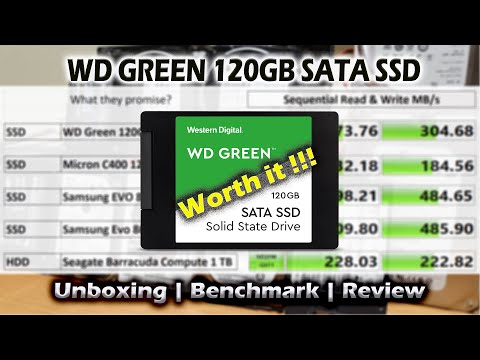 WD Green 120GB SSD - Unboxing   Benchmark   Value