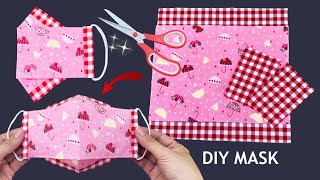 New Style 2 Tone Cute Mask Diy 3D Face Mask No Fog On Glasses Very Easy Pattern Sewing Tutorial
