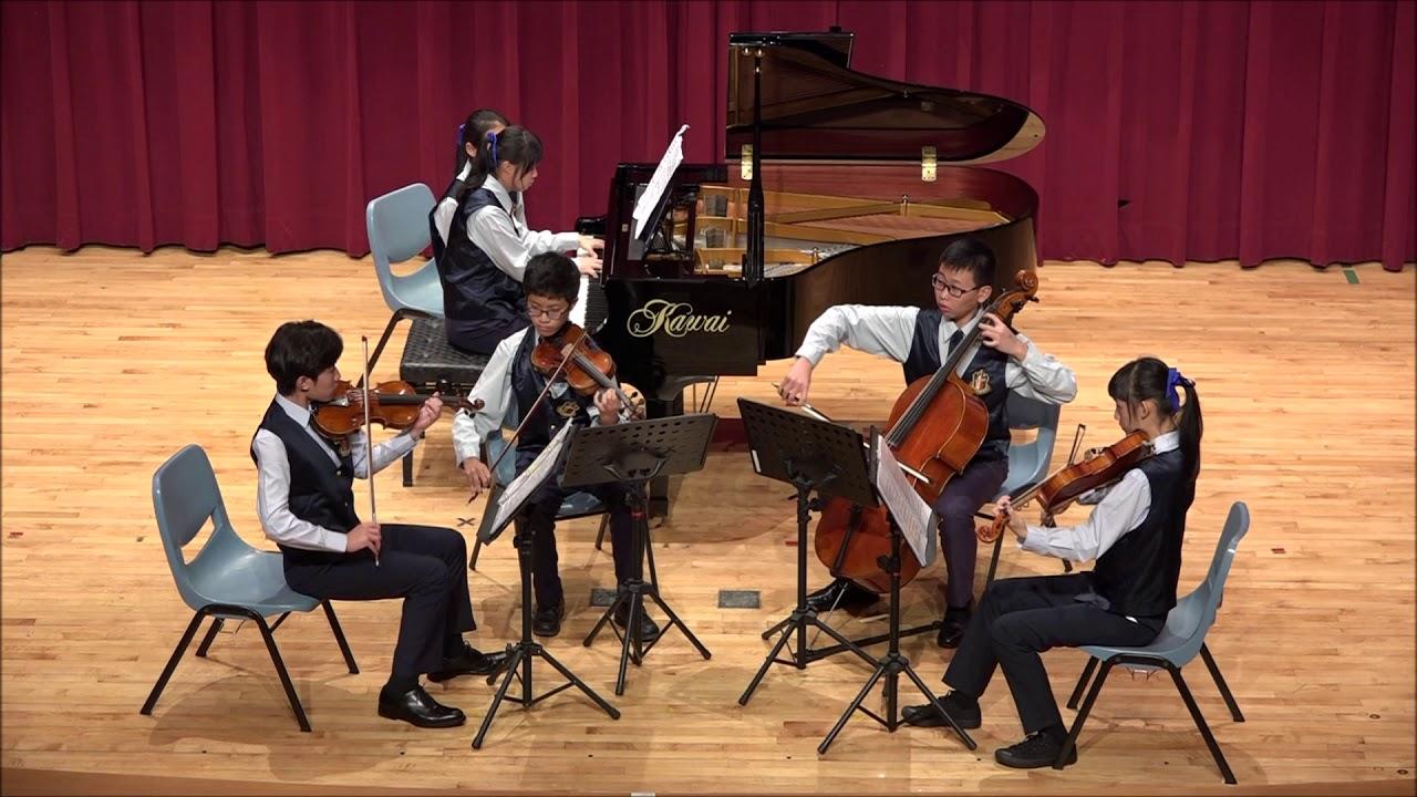 大安國中鋼琴五重奏106學年度北市賽 - YouTube