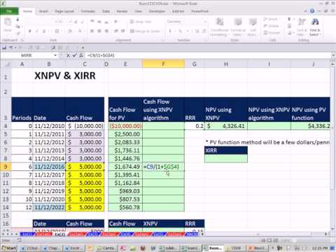 Excel Finance Class 81: XNPV Function XIRR Function - See Algorithm That XNPV uses