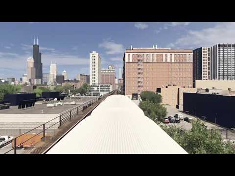 Cities Skylines Chicago First Person Metro Ride (Green Line)