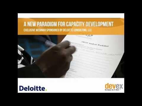 A New Paradigm for Capacity Development