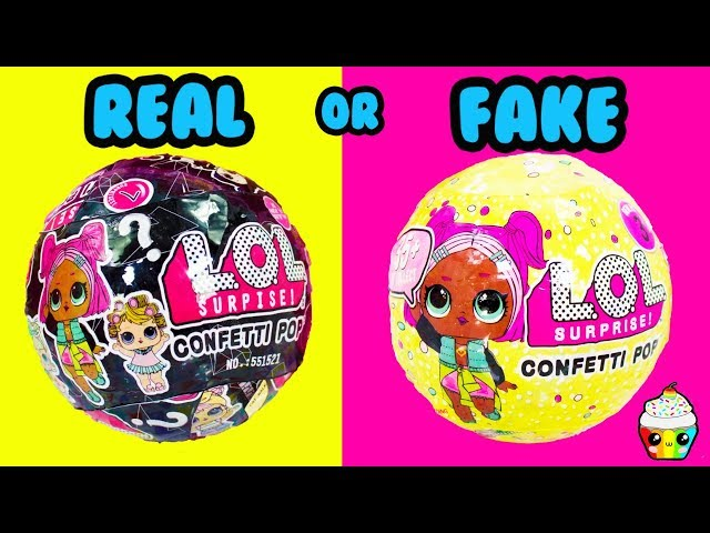 FAKE or REAL LOL Surprise Balls You Decide Cupcake Kids Club