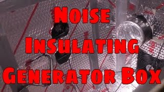 Noico Sheets to Noise Reduce Your Generator box or almost anything else.