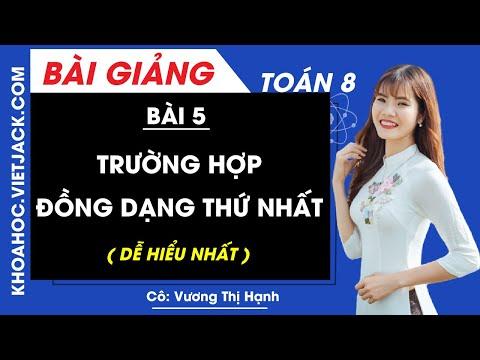 Trường hợp đồng dạng thứ nhất - Bài 5 - Toán học 8 - Cô Vương Thị Hạnh (DỄ HIỂU NHẤT)