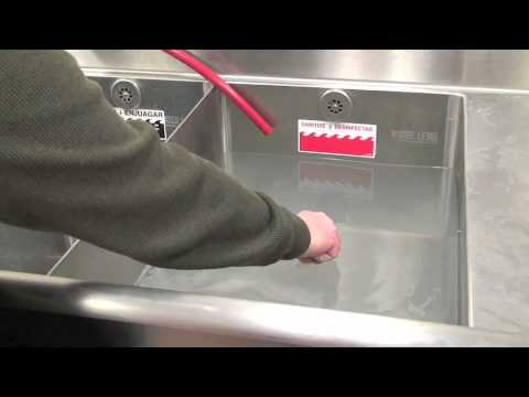 how to test sanitizer in a sink