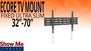 How To Install A Ultra Slim TV Mount For TV's Between 32