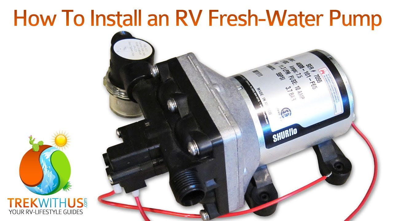 how to install a shurflo fresh water pump - rv diy