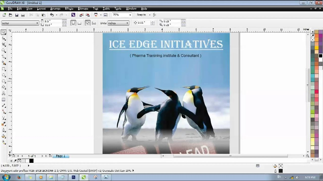 Book Cover Design Cdr : Design cover page in coreldraw youtube