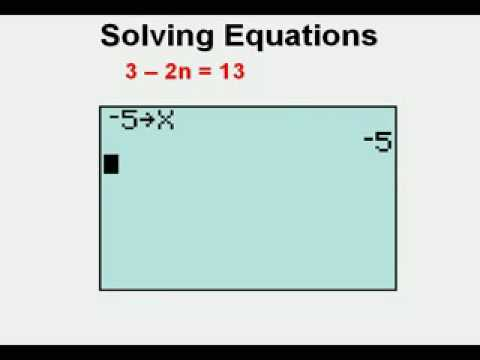 Solving Equations with the Graphing Calculator - YouTube
