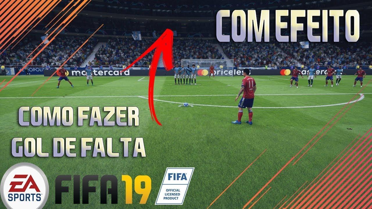 88e601df03 FIFA 19 TUTORIAL COMO FAZER GOL DE FALTA COM EFEITO! - YouTube