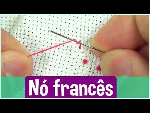 Nó francês ponto cruz tradicional - Como fazer