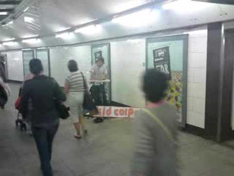 Kid Carpet Launch Day - #1: Busking at Oxford Circus Tube