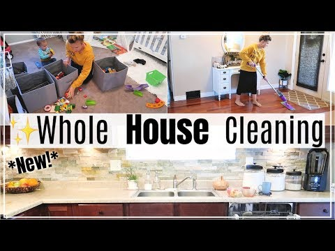 ALL DAY CLEAN WITH ME 2018   WHOLE HOUSE CLEANING   EXTREME CLEANING MOTIVATION   SAHM