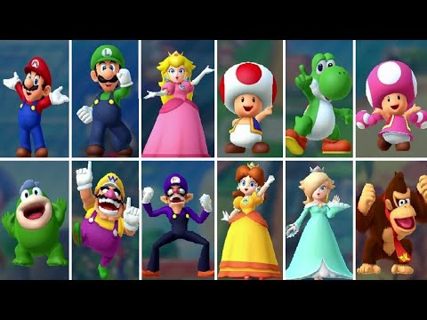 Mario Party 10 - All Characters