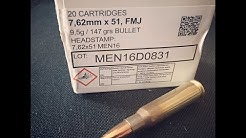 7.62x51mm, 147gr FMJ, MEN, Velocity Test