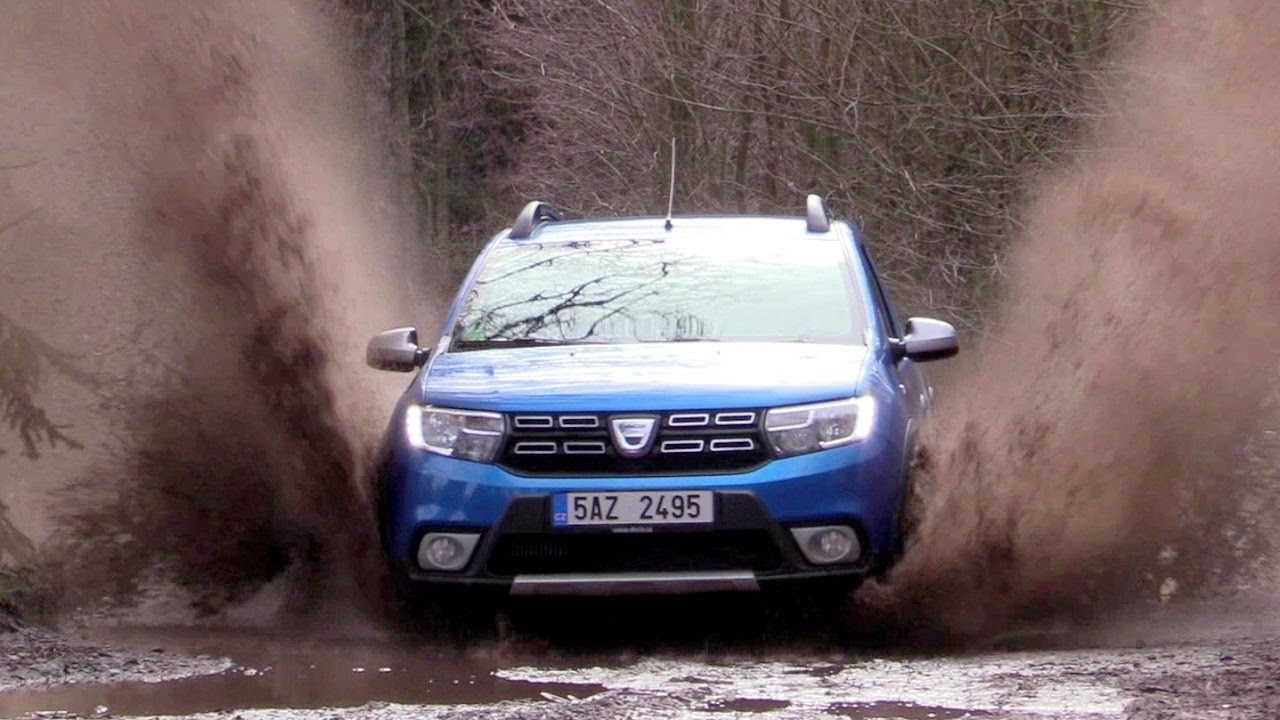 dacia sandero stepway 2017 driving footage road off. Black Bedroom Furniture Sets. Home Design Ideas