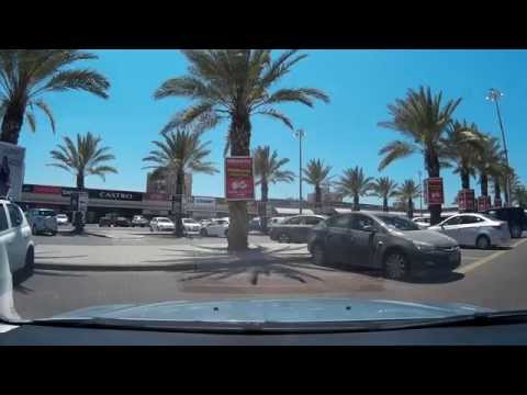 Driving in Israel. Ashdod. אשדוד. Ашдод