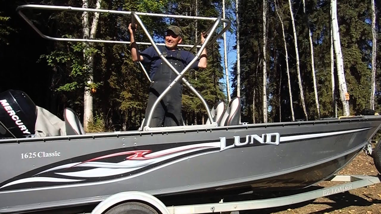DIY Fishing boat canopy & DIY Fishing boat canopy - YouTube