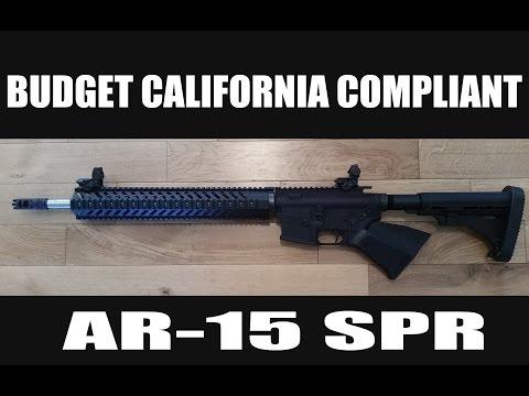 """California Legal Compliant Featureless AR-15 18"""" PSA Barrel"""