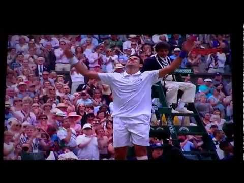 Djokovic beats Tsonga Wimbledon semi finals match