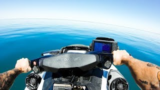 Fishing + Exploring Remote Australian Islands By Jet Ski   Squid Catch And Cook - Ep 73