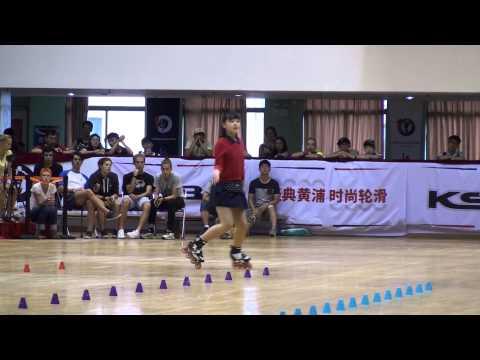 2015 Shanghai Slalom Open Classic Slalom Junior Women 3rd Zhao Yi Ran